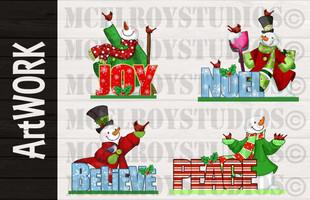 Christmas Product Design Artwork
