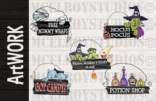 Halloween Product Design Artwork