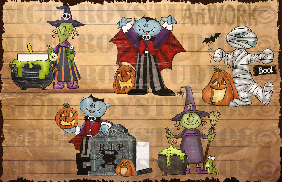 halloween monsters 4 artwork copy