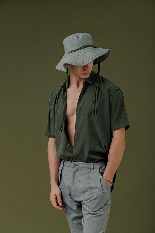 Camisa MC SBSCO Ampla Monterey Verde
