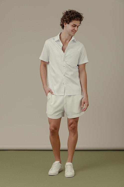 Camisa SBSCO Branca com bolso em recortes