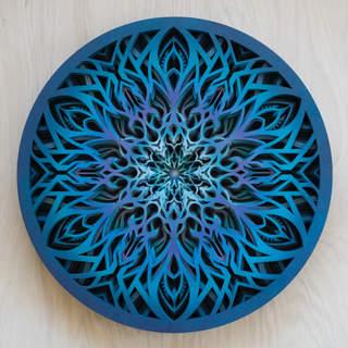 Circle of Existence - Mandala Art Blue