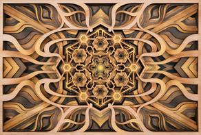 Inner Earth - Lasercut Art