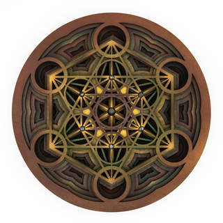 Emergence - Mandala Art Brown