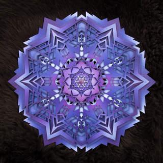 Beyond Light - Mandala Art Purple