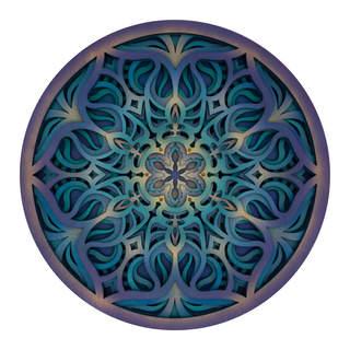 Boundless Flower - Mandala Art Blue Purple