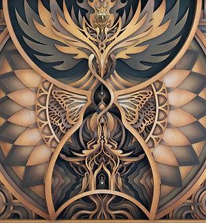 Temple Pheonix Laser Cut Art