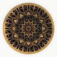 Midnight Sunrise - Mandala Art