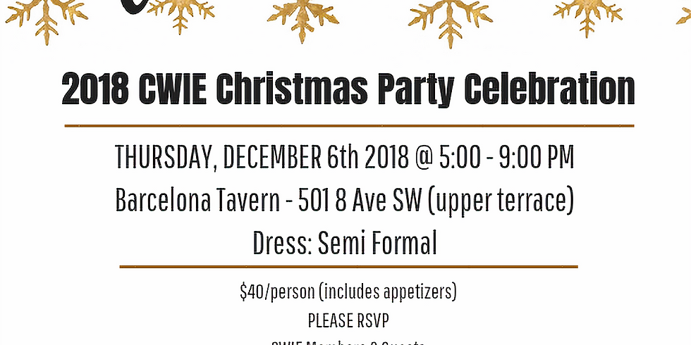 CWIE Christmas Party 2018