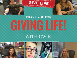 CWIE Gives Life!