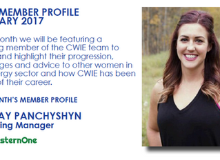 CWIE Member Profile - February 2017 Lindsay Panchyshyn