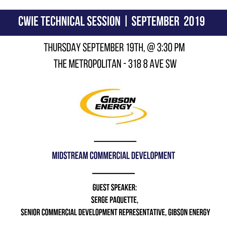 CWIE September Technical Session - CWIE MEMBERS AND PROSPECTIVE MEMBERS ONLY