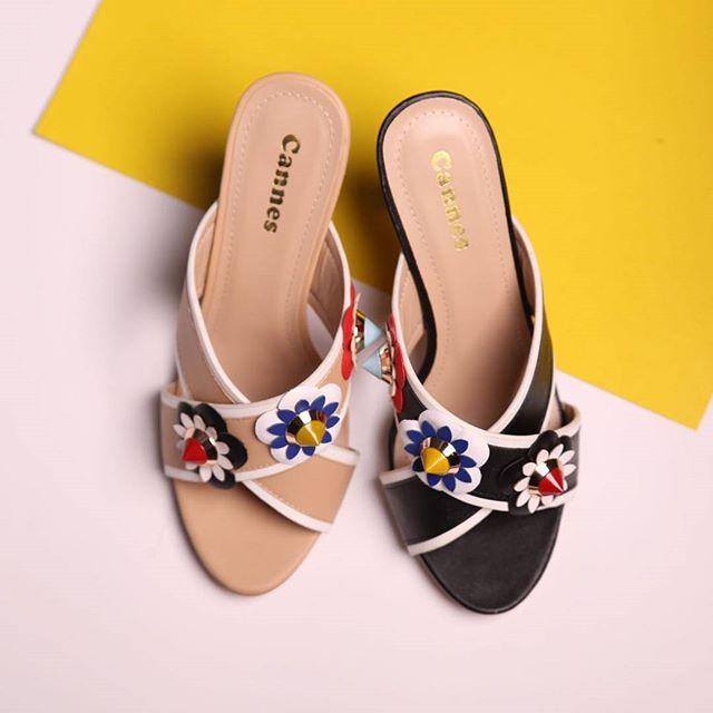 تصميم رائع ومريح واهتمام بالغ بالتفاصيل_حذاء #كعب_عالي بتنسيق الوان رائعة بالاضافة للجودة العالية ال