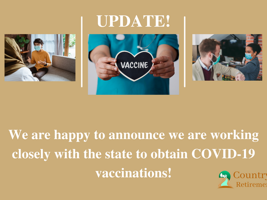 Announcing COVID Vaccine for Our Residents