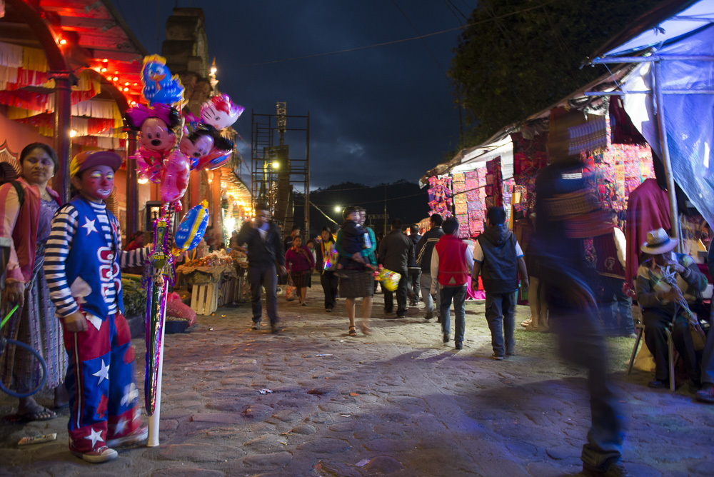 A night market in Chichicastenango during the festivities