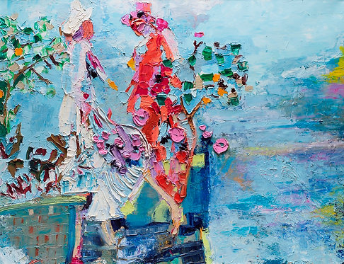 Women by the lake By Miri Eitan Sadeh