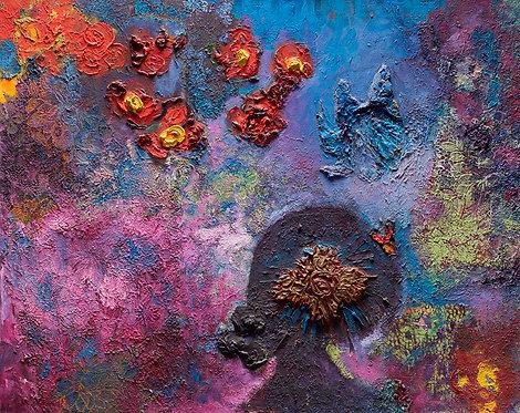 A woman among flowers By Miri Eitan Sadeh