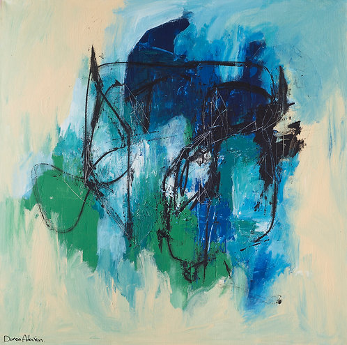 Composition in blue By Doron Adorian