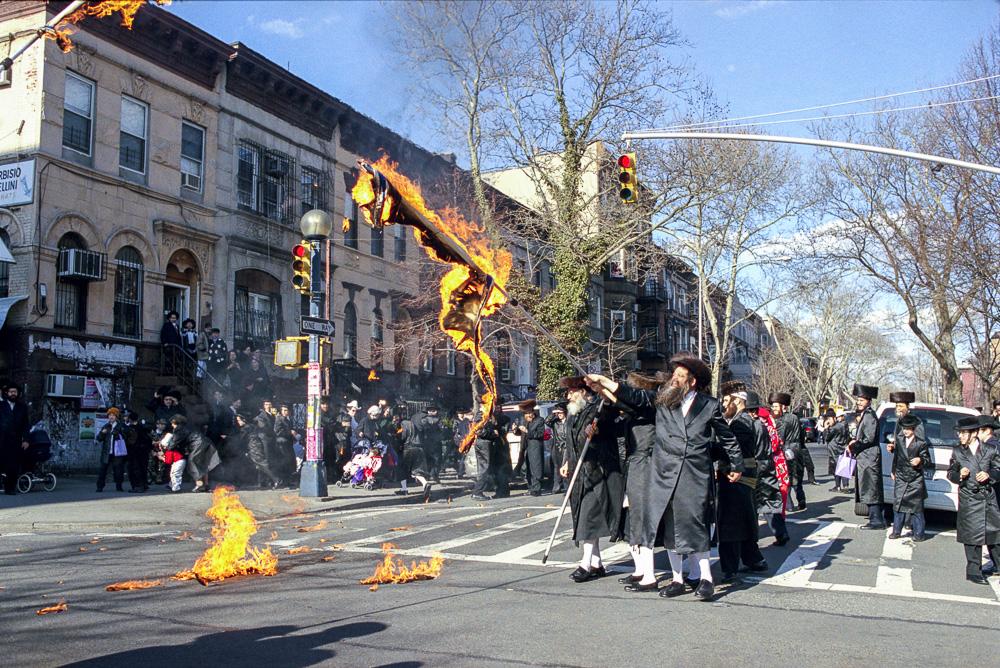 New York, Burning of the Israeli flag #6  By Jacob Elbaz