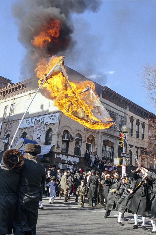 New York, Burning of the Israeli flag #8  By Jacob Elbaz