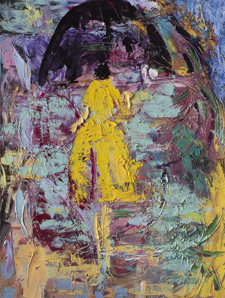 A woman in yellow