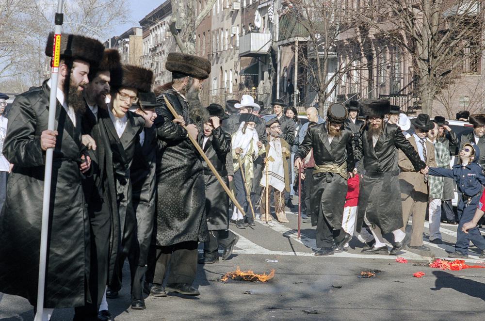 New York, Burning of the Israeli flag #9  By Jacob Elbaz