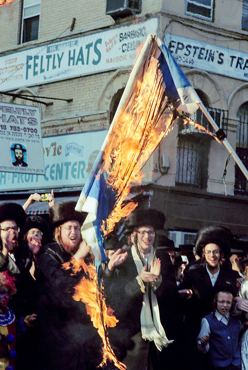 New York, Burning of the Israeli flag #4