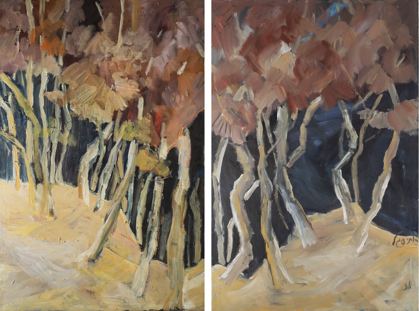 Fall (Diptych)