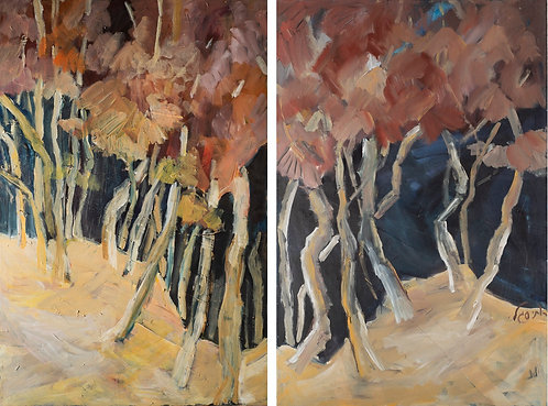 Fall (Diptych) By Ruthy Segal