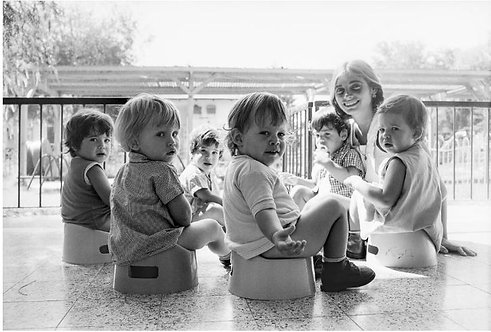 Israel, Potty training, Kibbutz Sde Nehemia