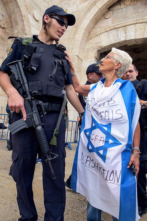 Jerusalem, Flags #1  By Jacob Elbaz