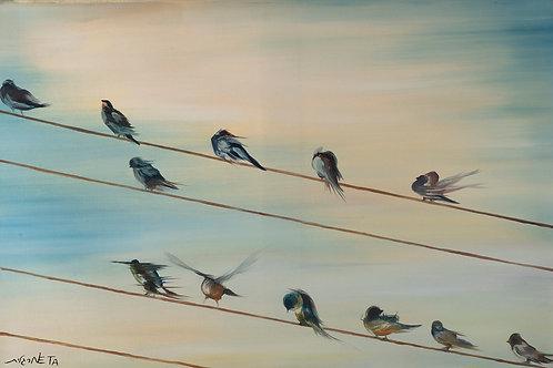 Standing in line by  Neta Margalit