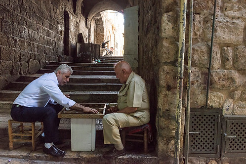 Jerusalem, Playing Sesh-Besh  By Jacob Elbaz