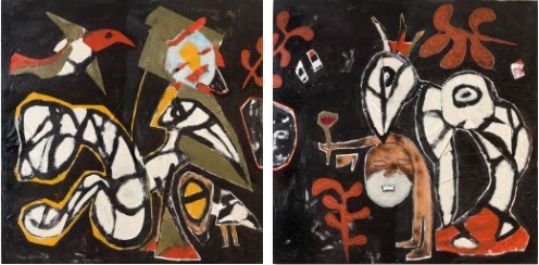 Nico in the Garden of Guru (diptych)