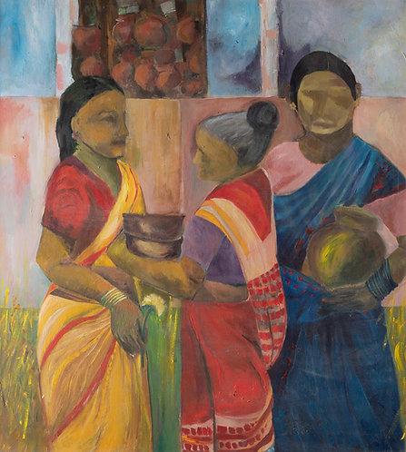 Indian women, behind By Zmira Lapidot