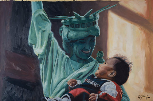 Child care -Statue of Liberty by  Ben Fried