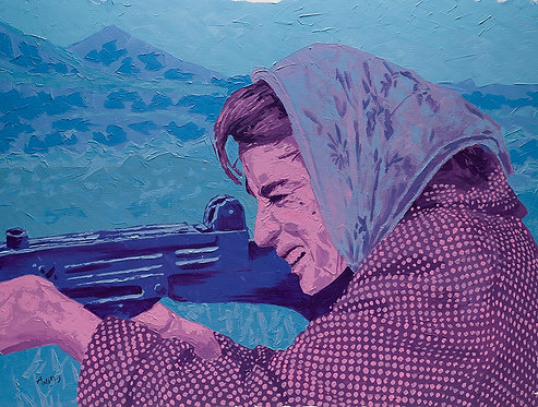 Taking aim #3 by  Moshe Ben Avraham