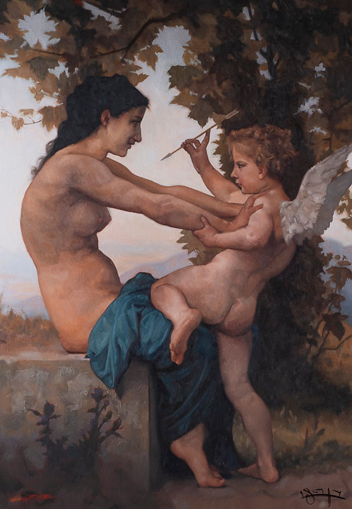 A Young Girl Defending Herself against Eros - 