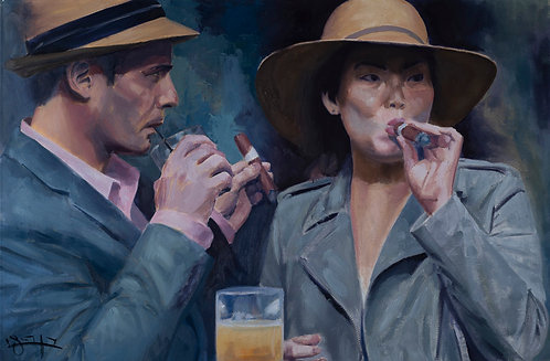 The smokers by  Ben Fried
