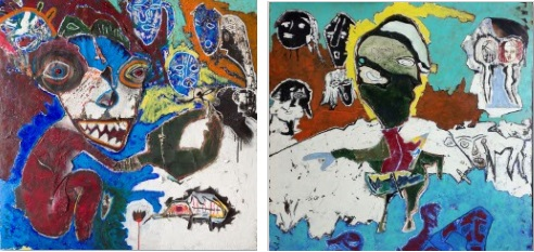 Masquerade Ball (diptych)