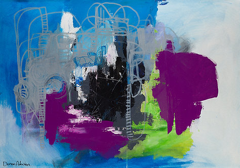 Composition in purple By Doron Adorian
