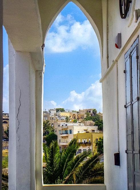 Jaffa throgh a frame, a view from Rosenthalis house
