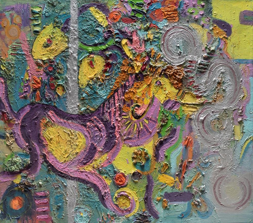 A horse in a merry go round By Miri Eitan Sadeh