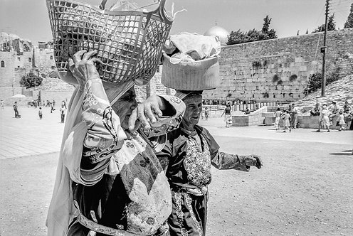 Jerusalem, Carrying baskets on their heads #2  By Jacob Elbaz