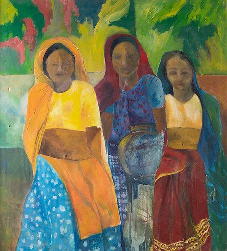Indian women, front By Zmira Lapidot