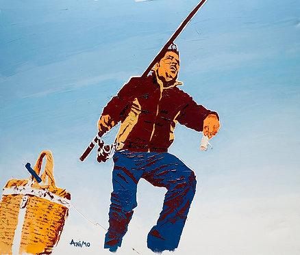 Fisherman by  Moshe Ben Avraham