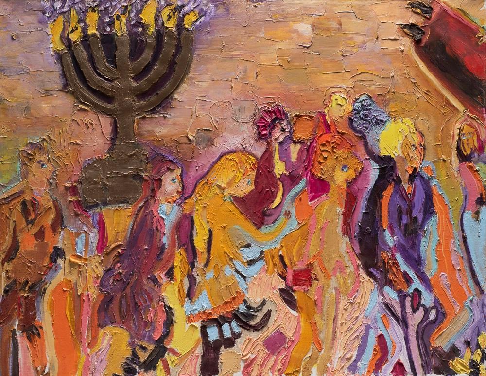 A seven-branched menorah By Miri Eitan Sadeh