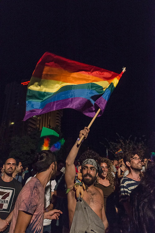 Jerusalem, Pride flag  By Jacob Elbaz