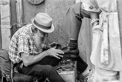 Israel, Brushing shoes  By Jacob Elbaz