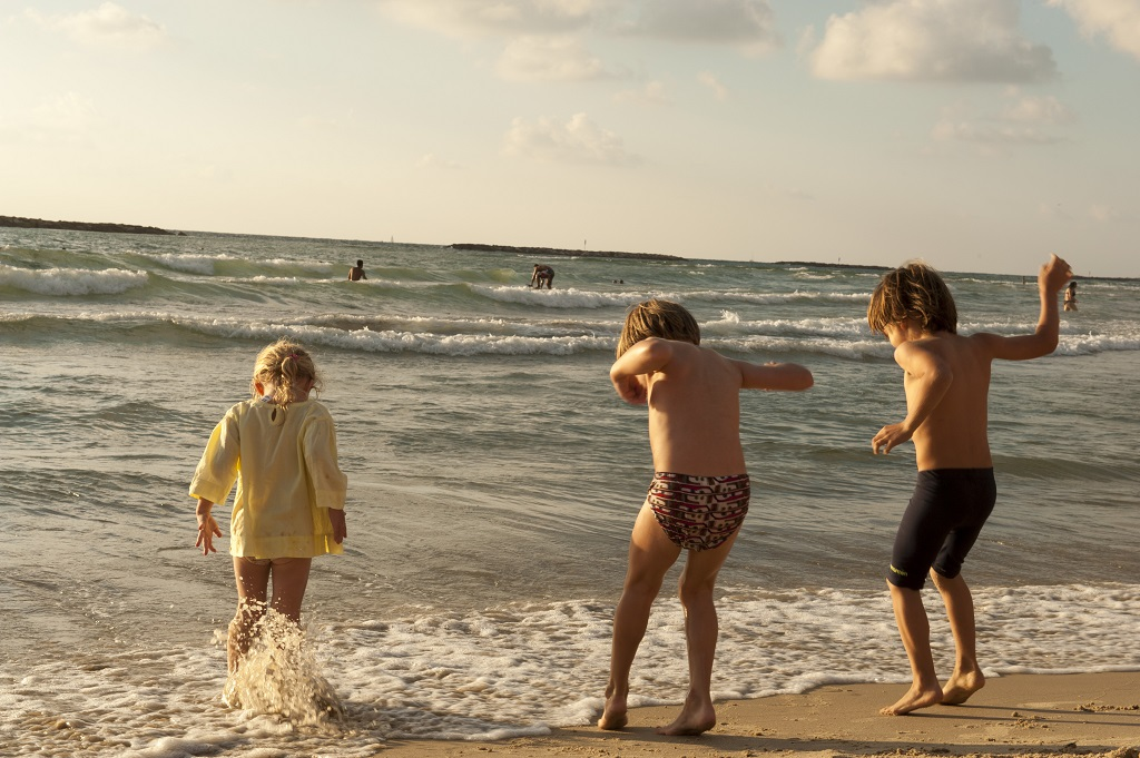 Summer Time Tel Aviv, Children Playing on the Beach